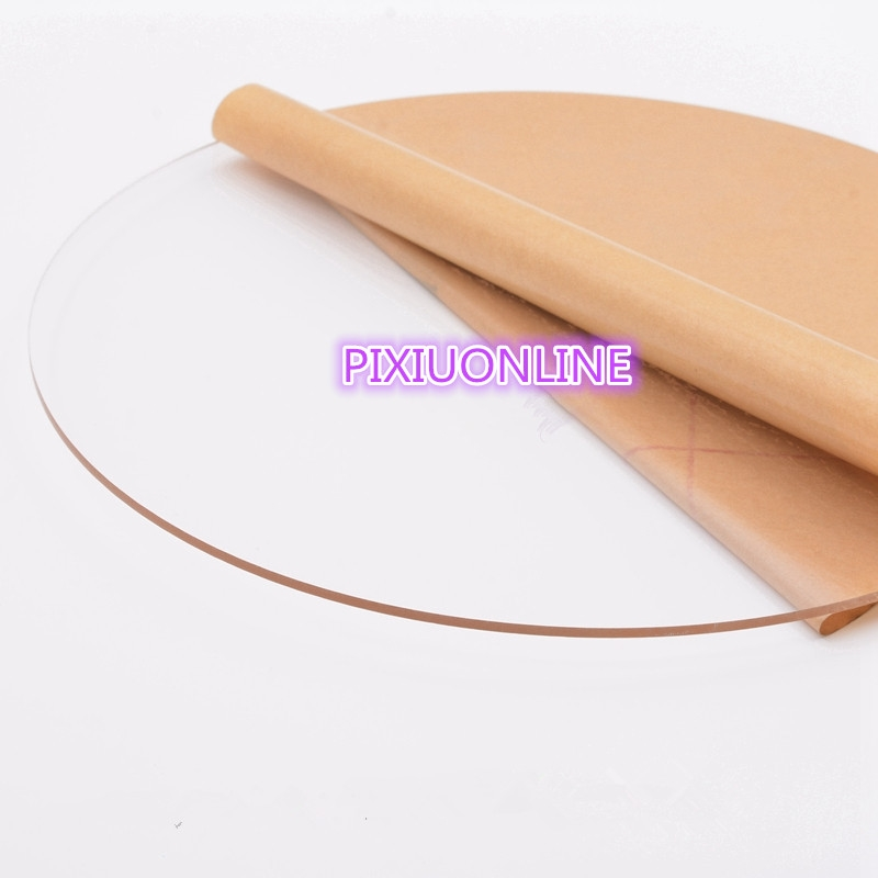 0.95$  Buy now - http://aliwlx.shopchina.info/go.php?t=32775417377 - 1PCS YT771  Acrylic Board  Transparent Organic Glass DIY Plastic Building Model Material   Thickness 3 mm  5/8/10 cm in diameter  #magazineonline