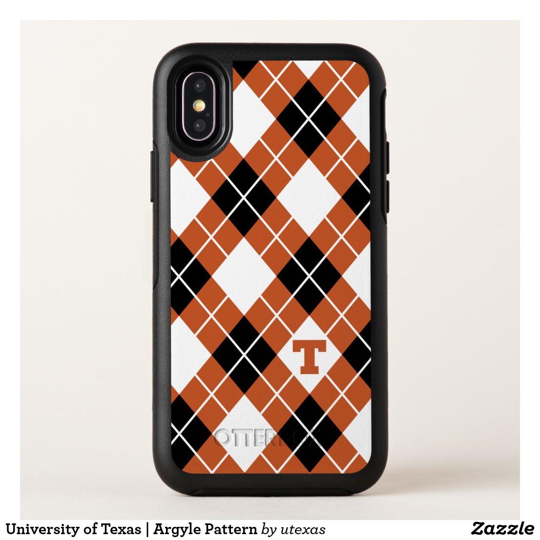 best service f1bef ddbbf University of Texas | Argyle Pattern OtterBox iPhone Case | Zazzle ...