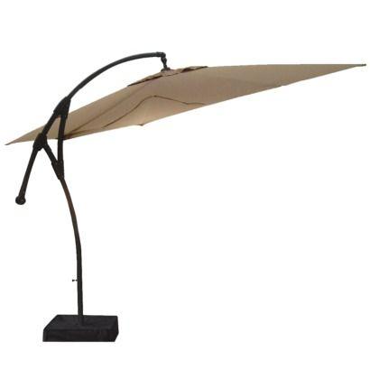 Threshold Square Offset Patio Umbrella Tan 9