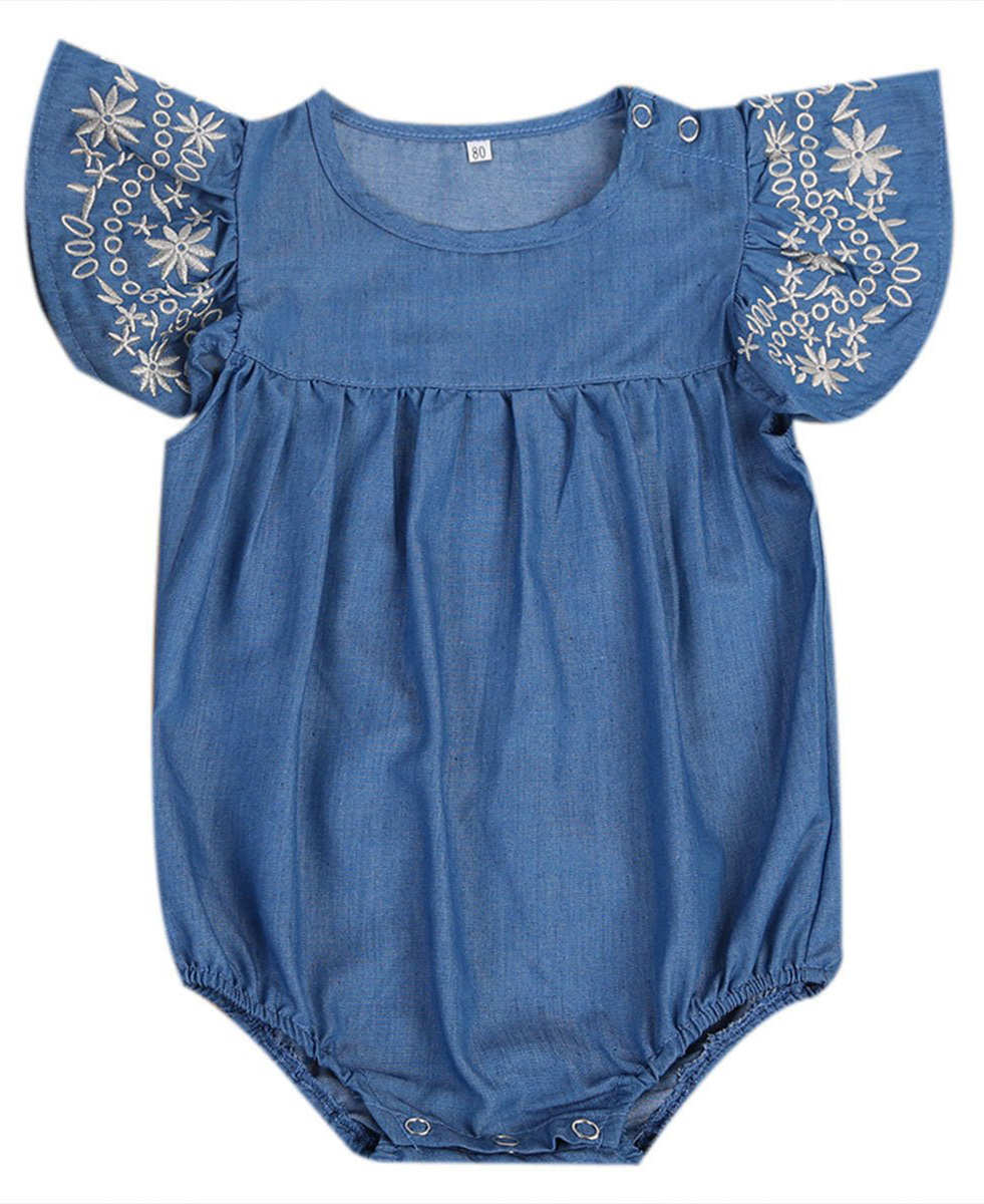 5903f4fd8757 SHOP Our Jean Romper for Baby Girls