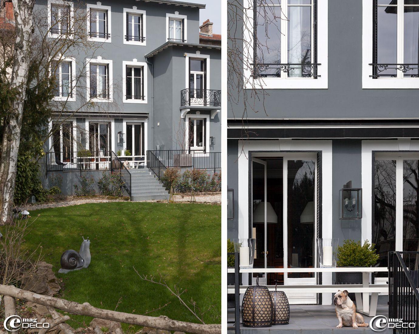 faade et jardin de la maison dhtes la villa 1901 - Facade Maison Grise Et Blanche
