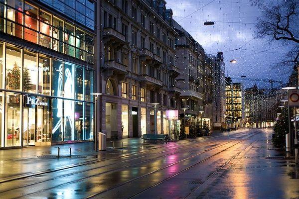 Street View Of Zurich In Winter Zurich Scenery Street View