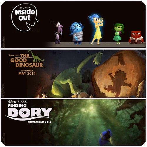 Three Upcoming Disney Pixar Films: Inside Out, The Good
