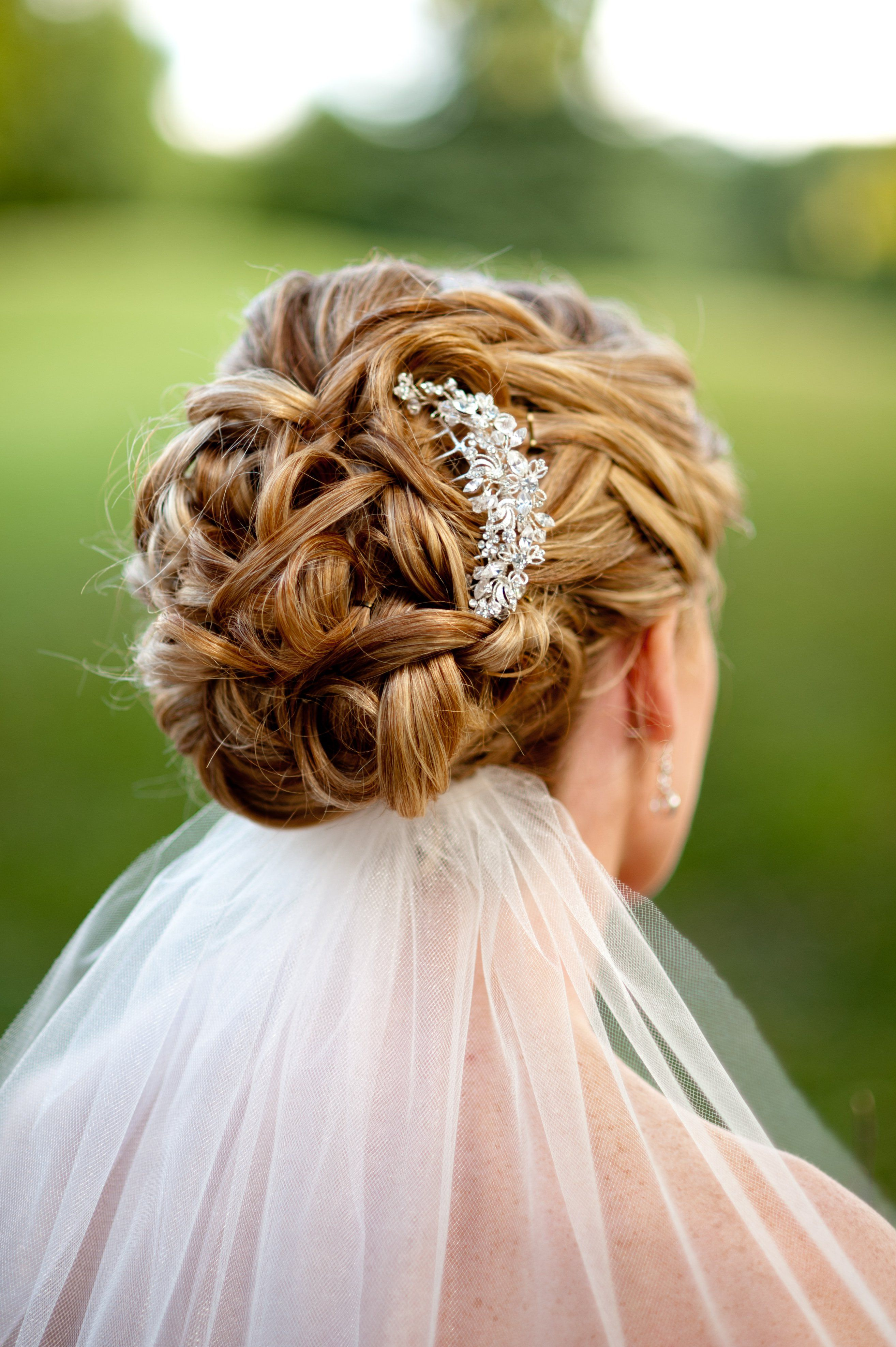 bridal updo with jeweled comb | wedding ideas | unique