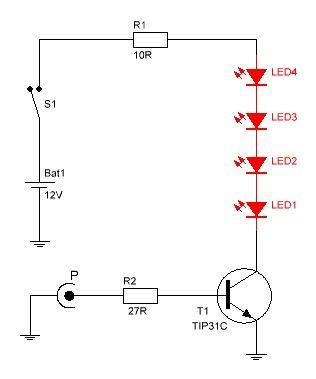 diagrama del circuito luces audioritmicas