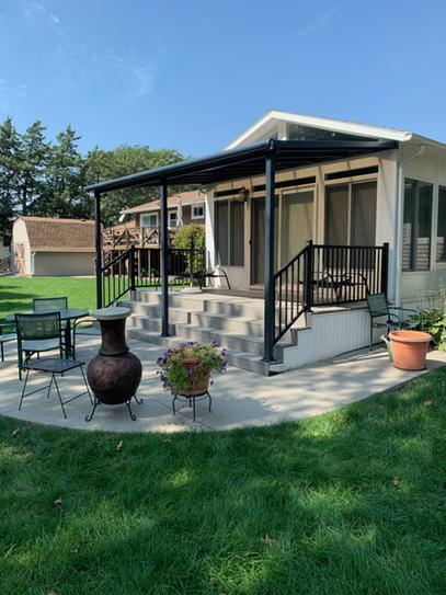 grey bronze patio cover awning