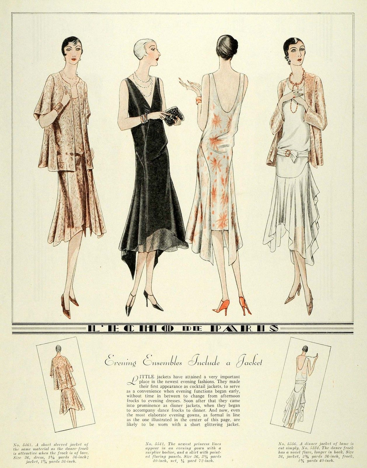 1929 Print Paris Flapper Fashion McCalls Dressmaking ...