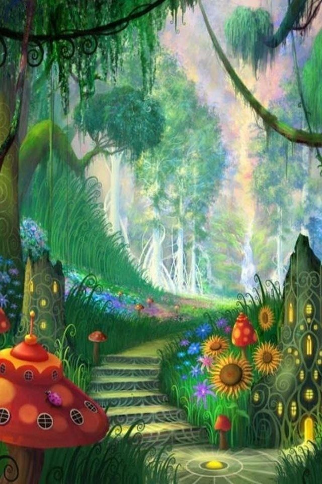 hd dream fantasy forest iphone wallpapers Rosas flores e