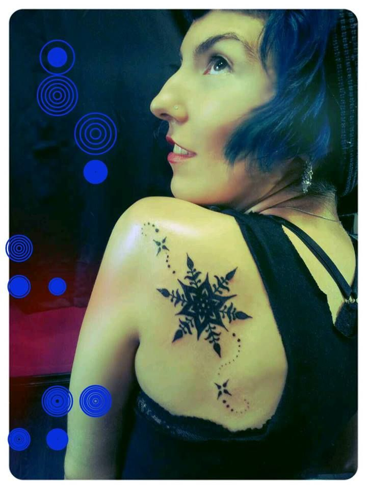 The Cold Shoulder . Snowflake tattoo by Brian Easlon and Kempo Cornelius <3