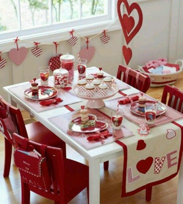 Valentines day table decorations valentines day for B day decoration ideas