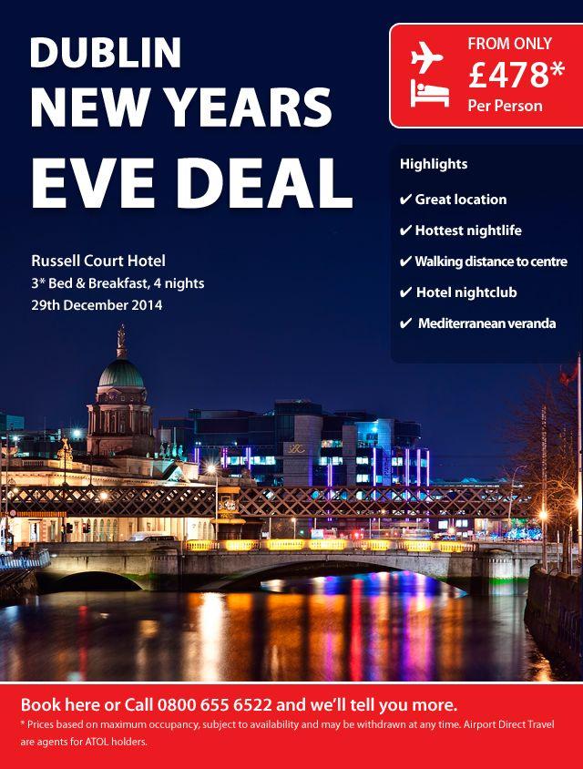 4 night city break to Dublin for New Year's Eve   Night ...
