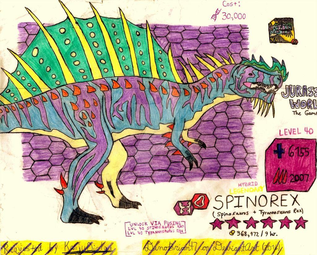 Jurassic World: The Game - Spinorex! (Request) by DinoBrian47 on DeviantArt