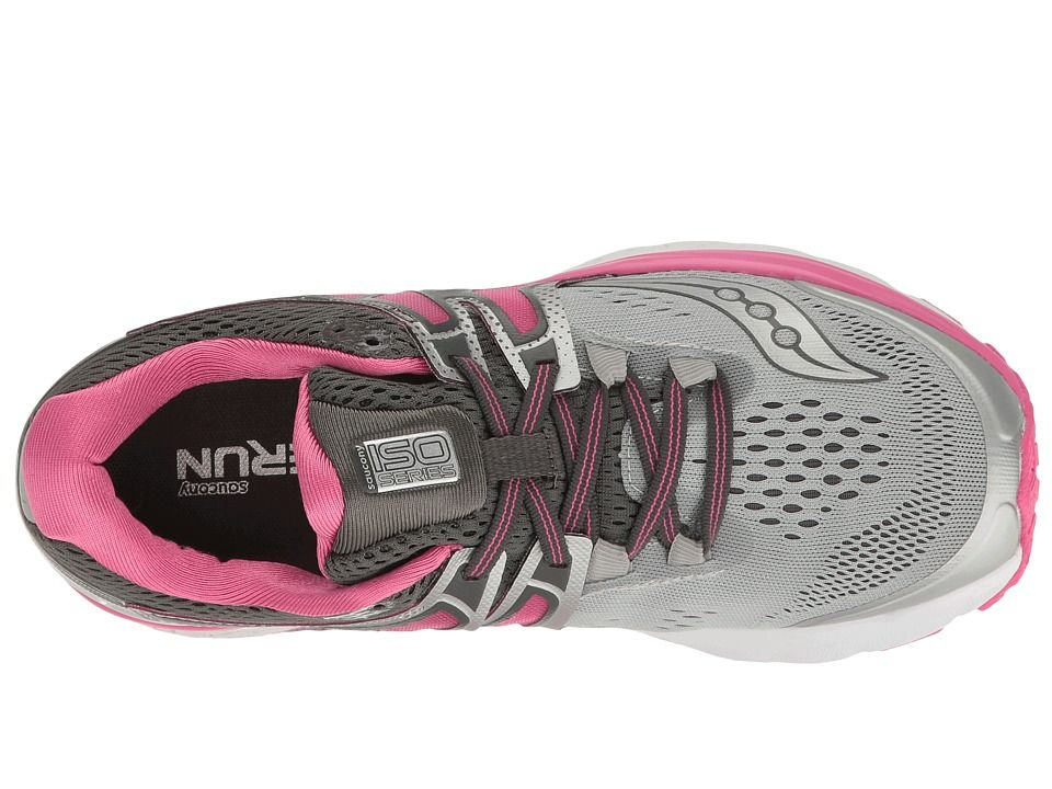 d28faf73 Saucony Hurricane ISO 3 Women's Shoes Grey/Pink/White | No ...