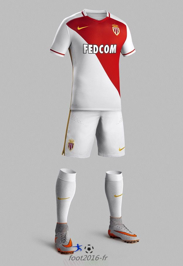 tenue de foot AS Monaco nouveau