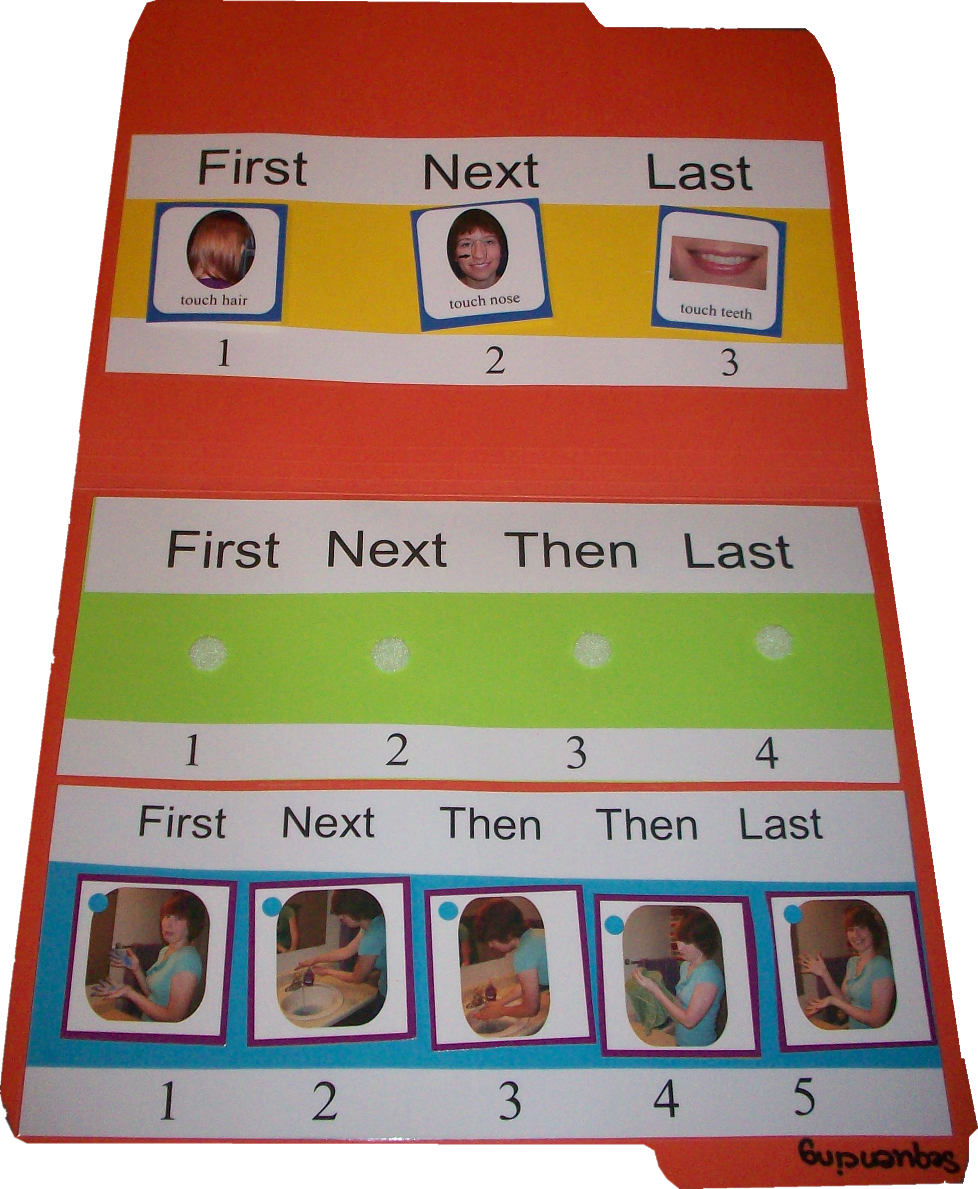 3 5 Step Sequencing Board File Folder Game With Three Sequencing Strips For 3 4 And 5 Step