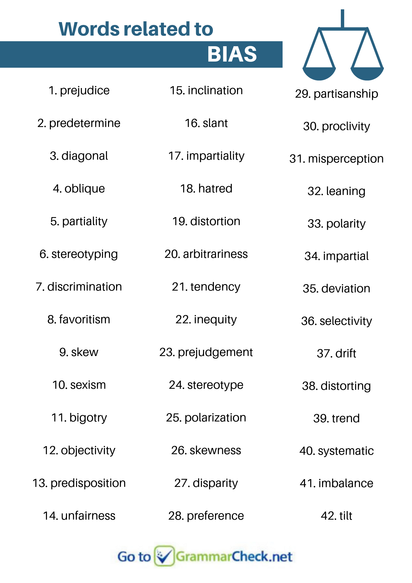 Words Related To Bias English Vocabulary Words Vocabulary Words Writing Words