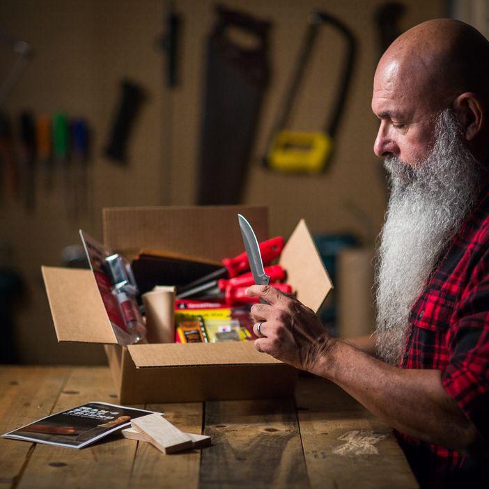 knife making kit by man crates blade buddies shawnee skinner blade
