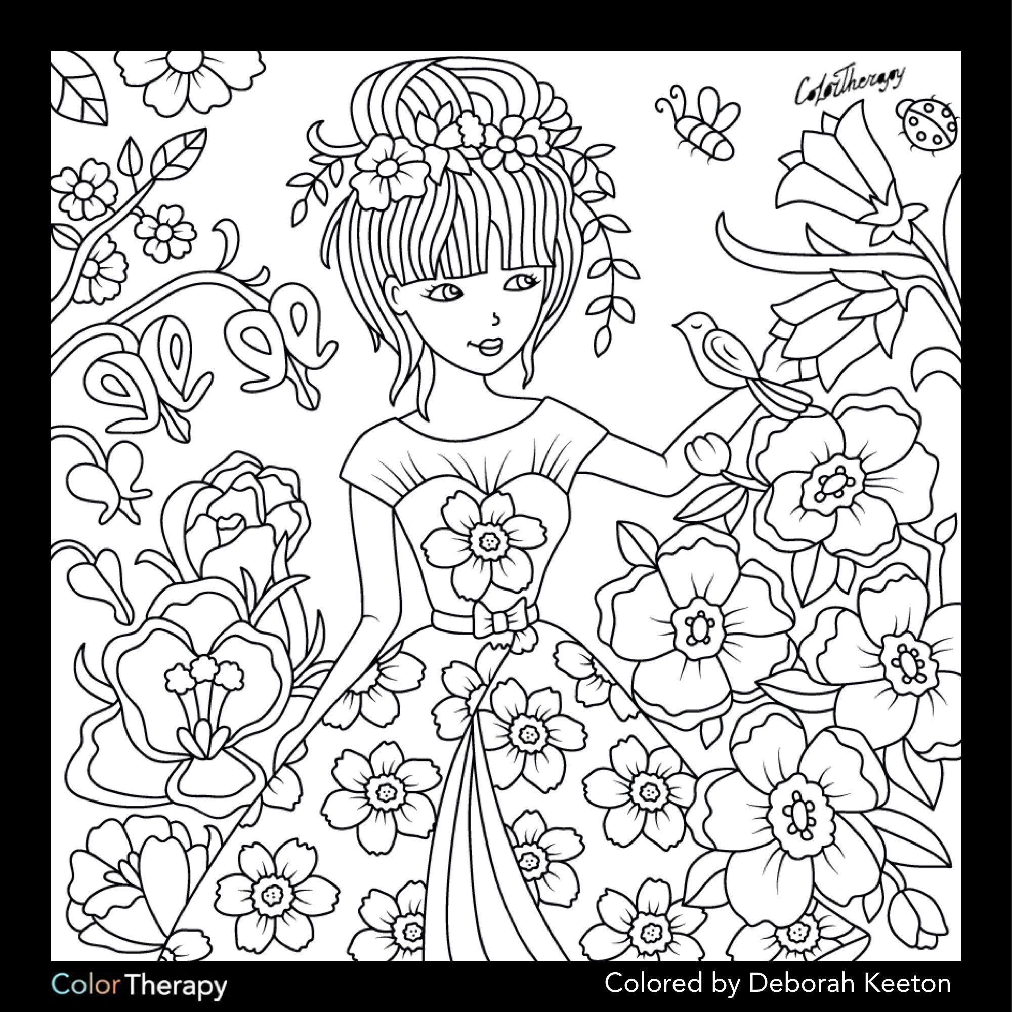 Flower Coloring Pages Spring Flowers Coloring Pages Spring