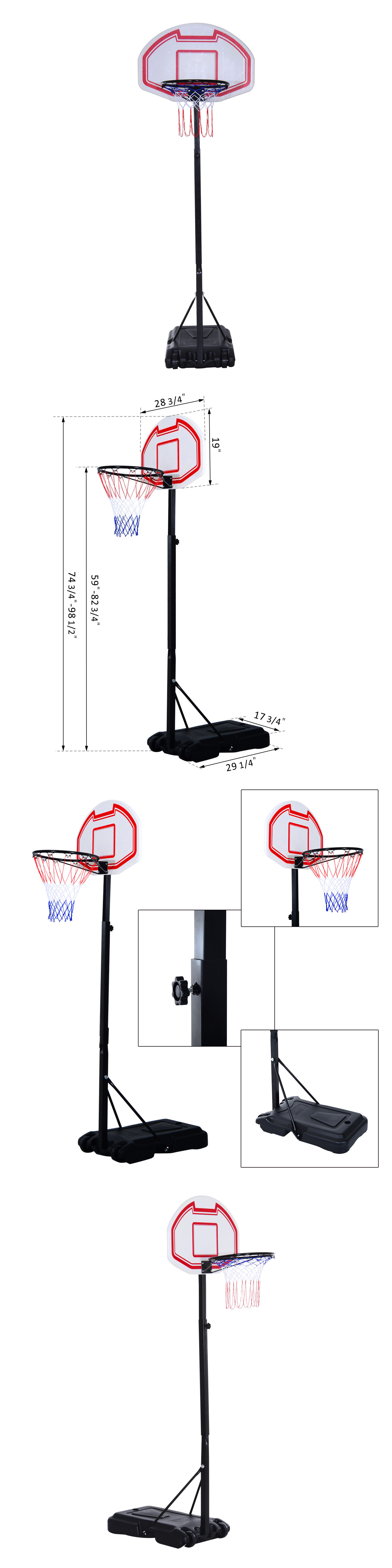 backboard systems 21196 soozier basketball stand wheel moveable