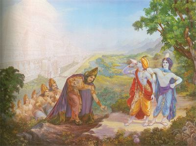 Krsna And Balarama Summon Yamaraja Sandipani Muni Asked For The