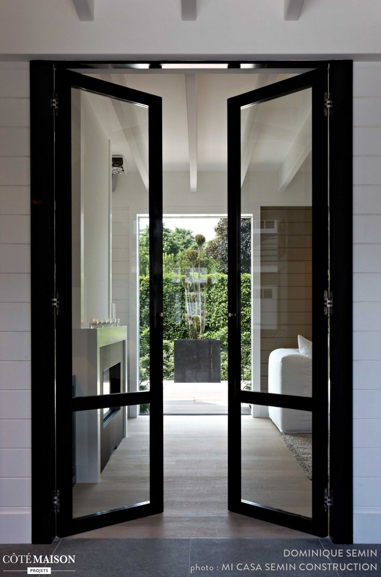 Home design exterieur und interieur une porte en verrière pour avoir une belle ouverture sur luextérieur