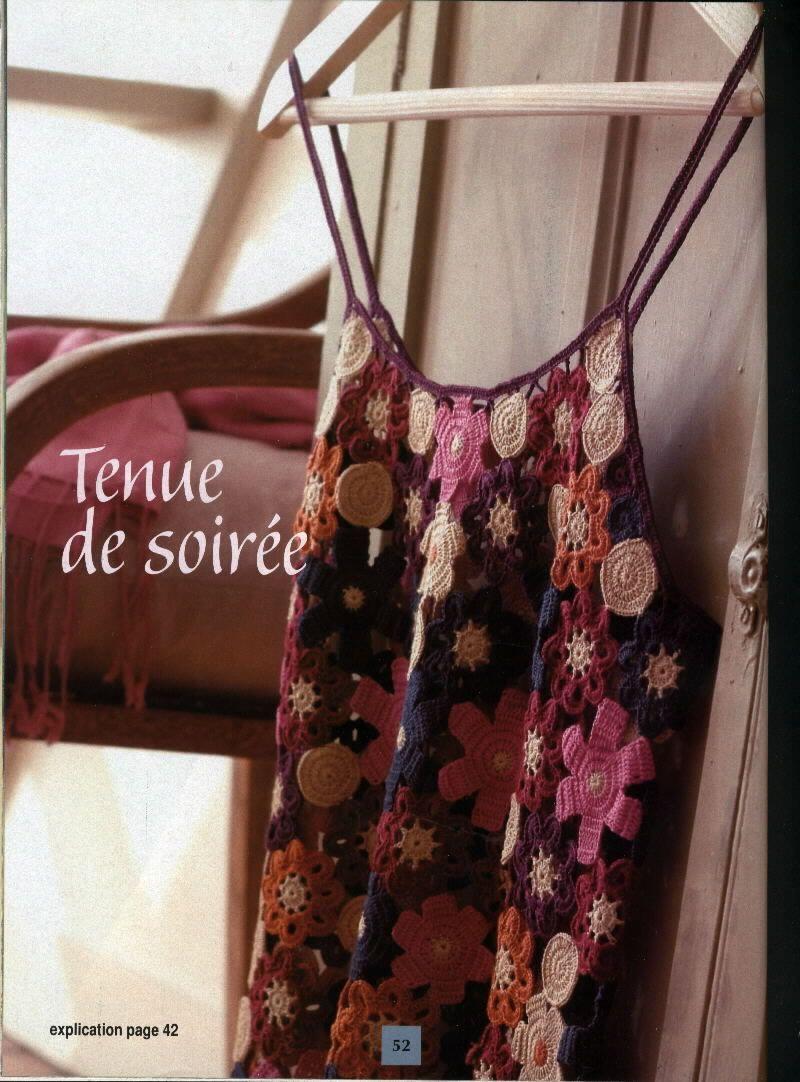 Hooked on crochet: Blusa de alça com flores em crochê