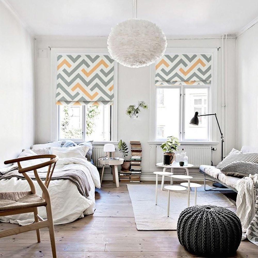 25 Modern Roman Shades For Beautiful Room Decorating: Quick Fix Washable Roman Window Shades Flat Fold, Moderne