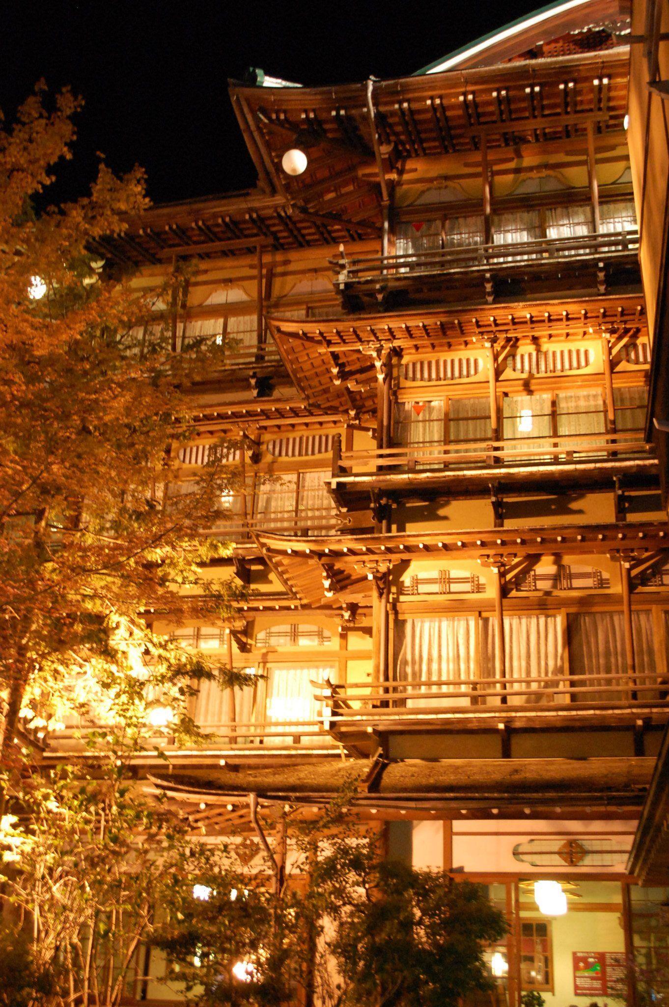 長野県 渋温泉 建築写真 温泉 美しい風景