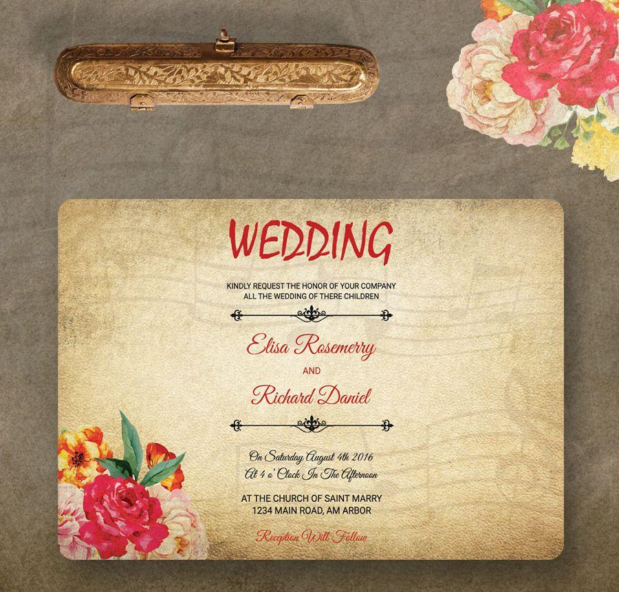 Free Wedding Invitation Templates Traditional Modern Royal - Wedding invitation templates: royal blue wedding invitation templates free