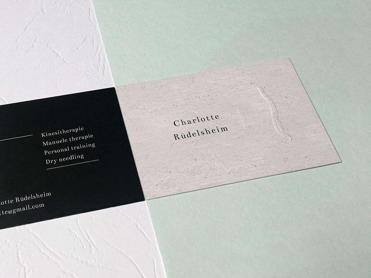 Businesscards Charlotte Rüdelsheim on Behance | Set Design ...