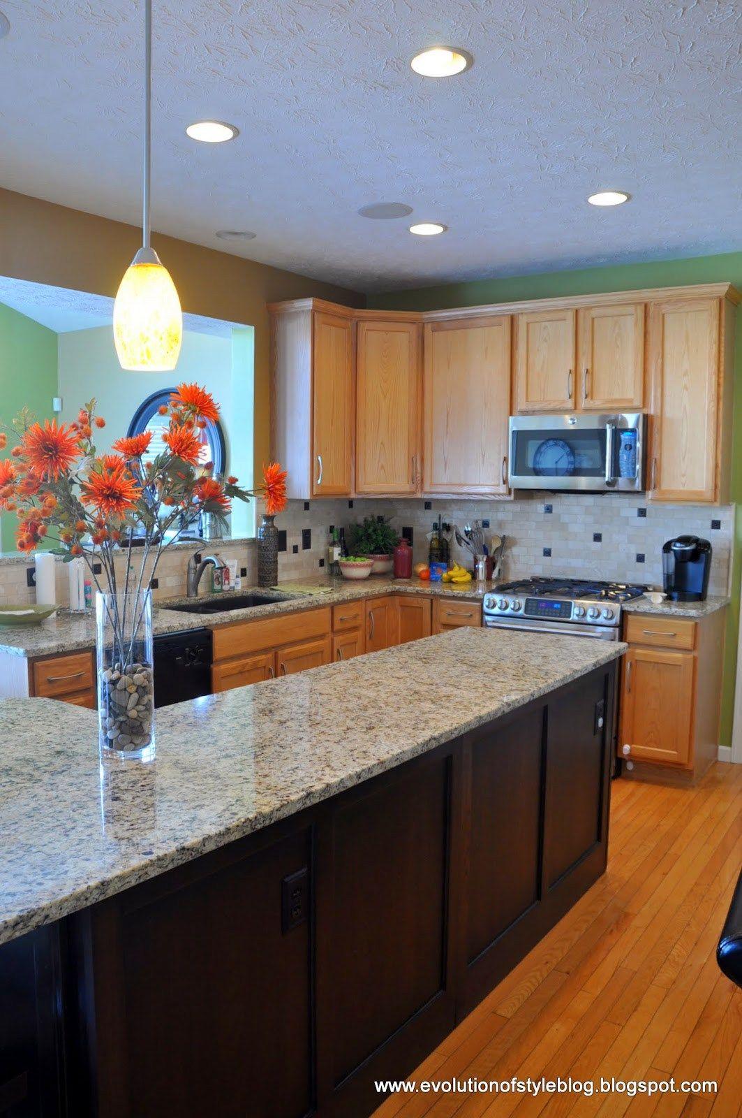 another builder grade kitchen transformed kitchen painting oak rh pinterest com au