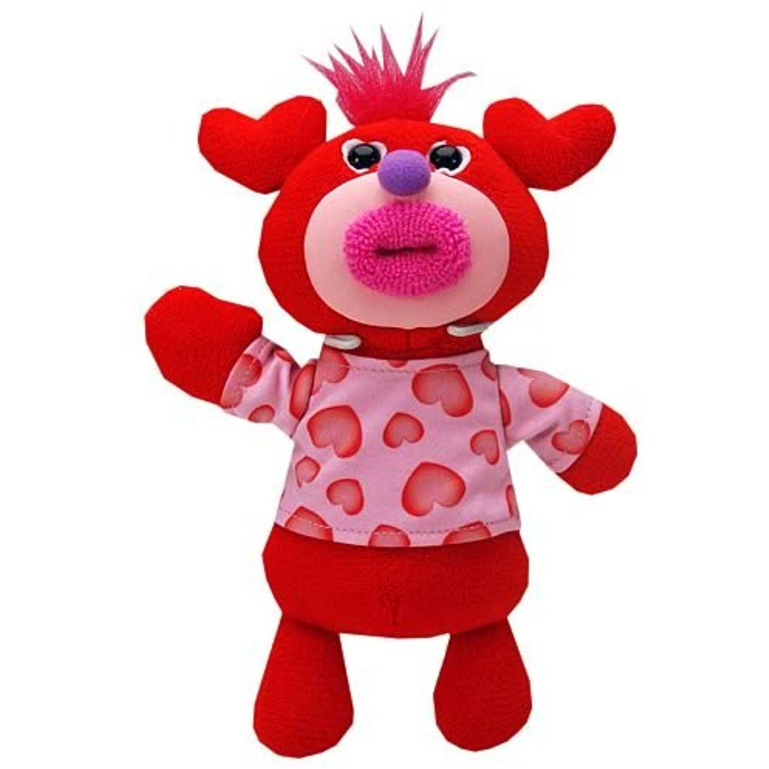 Singamajigs Plush Doll Valentines Day Figure Red With