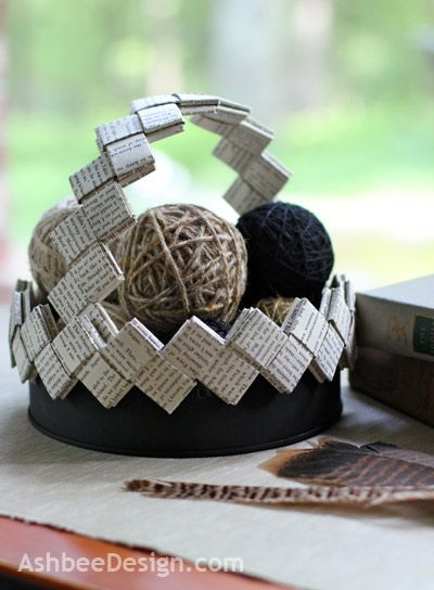 Book Page Basket by Ashbee Design