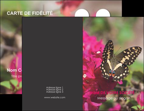 Carte De Visite Modle Et Exemple Papillons Fleurs Nature Jardin Jardinerie