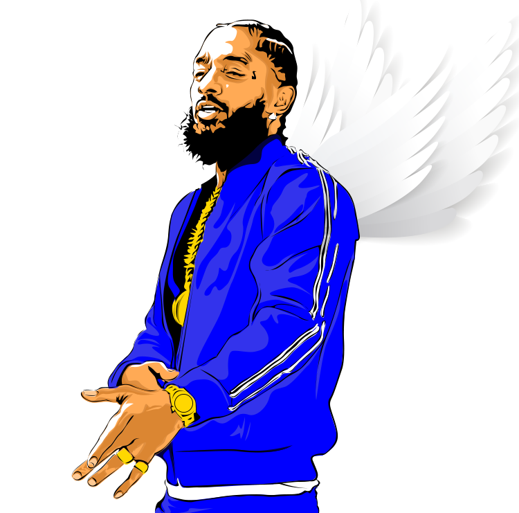 A vector\vexel artwork of the king himself Nipsey Hussle