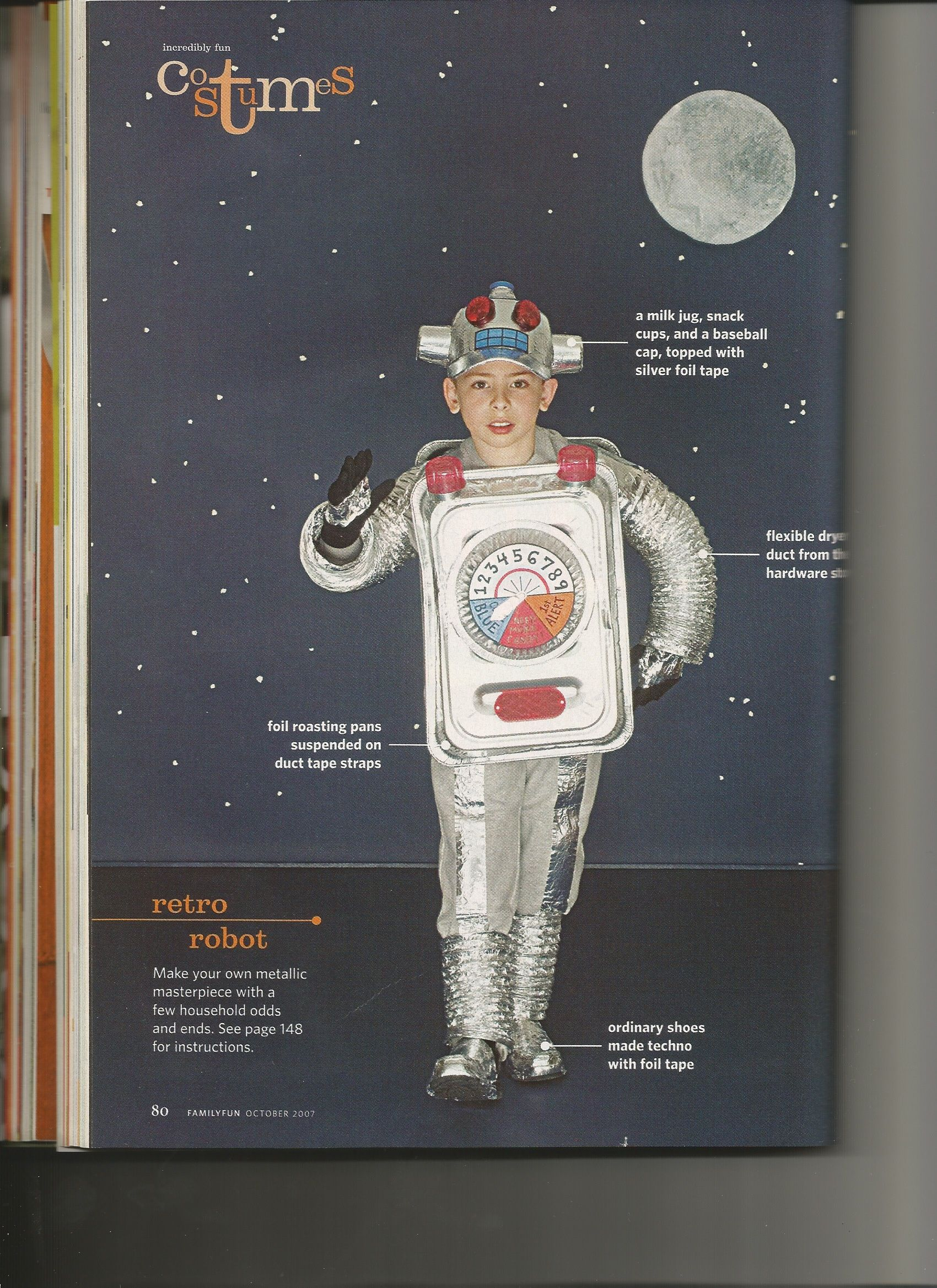 robot costume from family fun magazine october 2007 issue - Family Fun Magazine Halloween Crafts