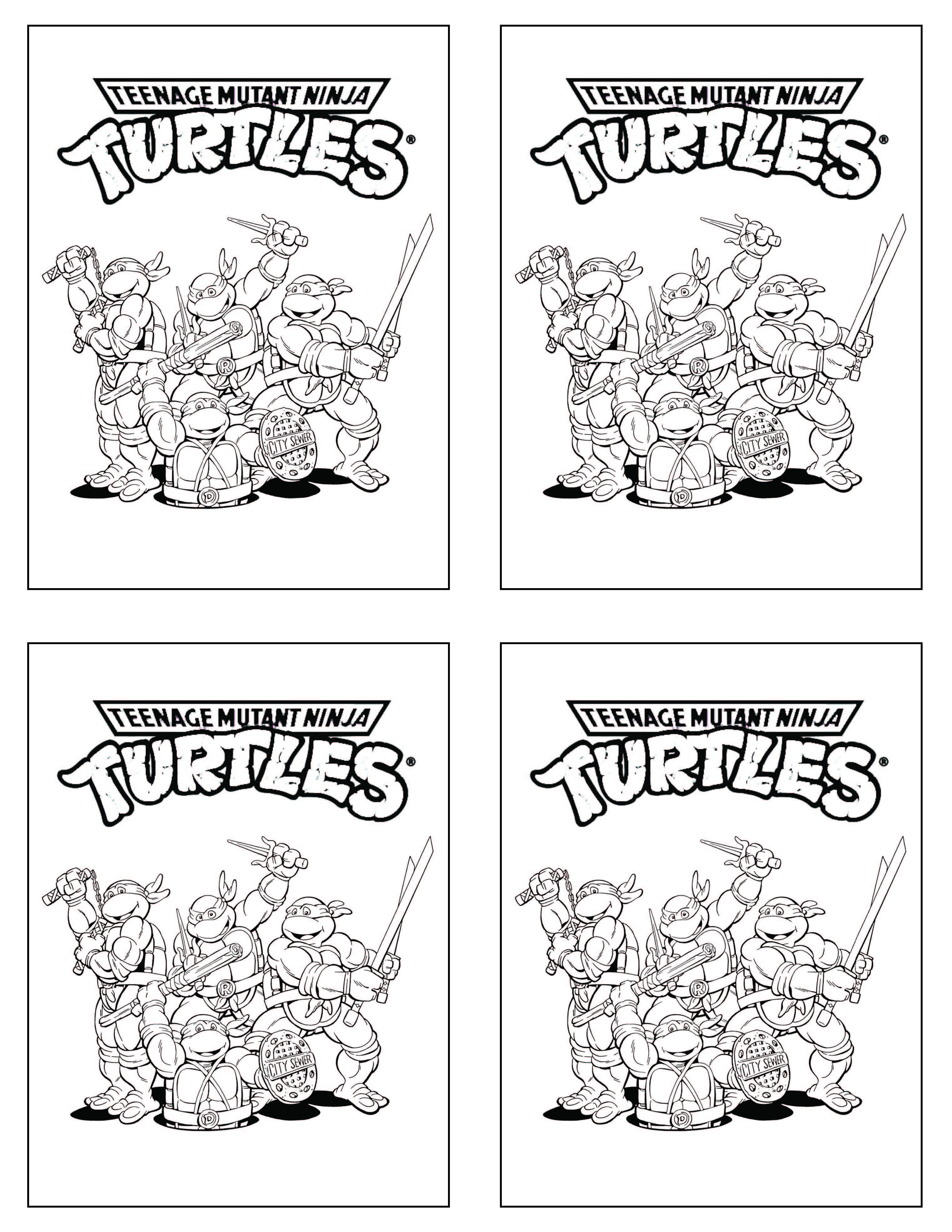 Teenage Mutant Ninja Turtles Tmnt Coloring Page From Free Printable