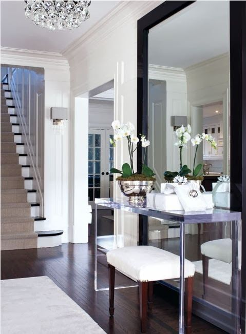 Mirror For Entrance Way Home Modern Entry House Styles