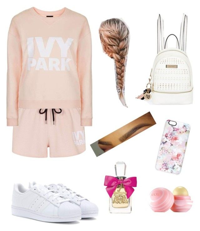 """""""Untitled #49"""" by kaitlynhanlon114 ❤ liked on Polyvore featuring Topshop, River Island, MAKOTO, adidas, Casetify, Juicy Couture and Eos"""