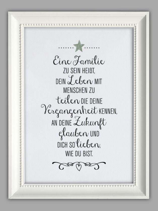 """FAMILIENGLüCK"""" Kunstdruck"""