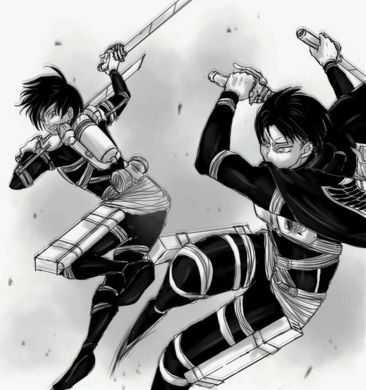 Dead Squad Levi Ackerman Mikasa Ackerman Attack On Titan Art Attack On Titan English Attack On Titan Levi