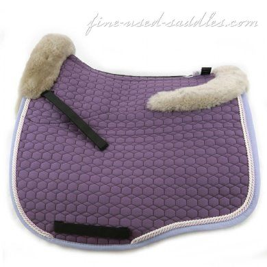Mattes Euro Fit Couture Sheepskin Dressage Pad Violet Purple