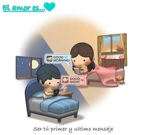Un sms de buenos días y uno de buenas noches no es rutina,  es amor y ganas de estar junto a ti siempre