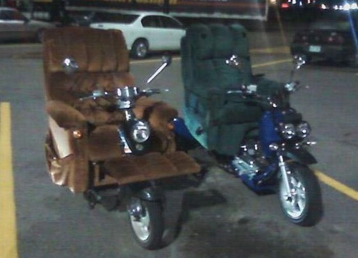 Who is surprised that someone who shops at Walmart drives a Lazy Boy chair on wheels. & Lazy Boy Recliner-cycles? OK! | Wheels of Note | Pinterest | Wheels islam-shia.org