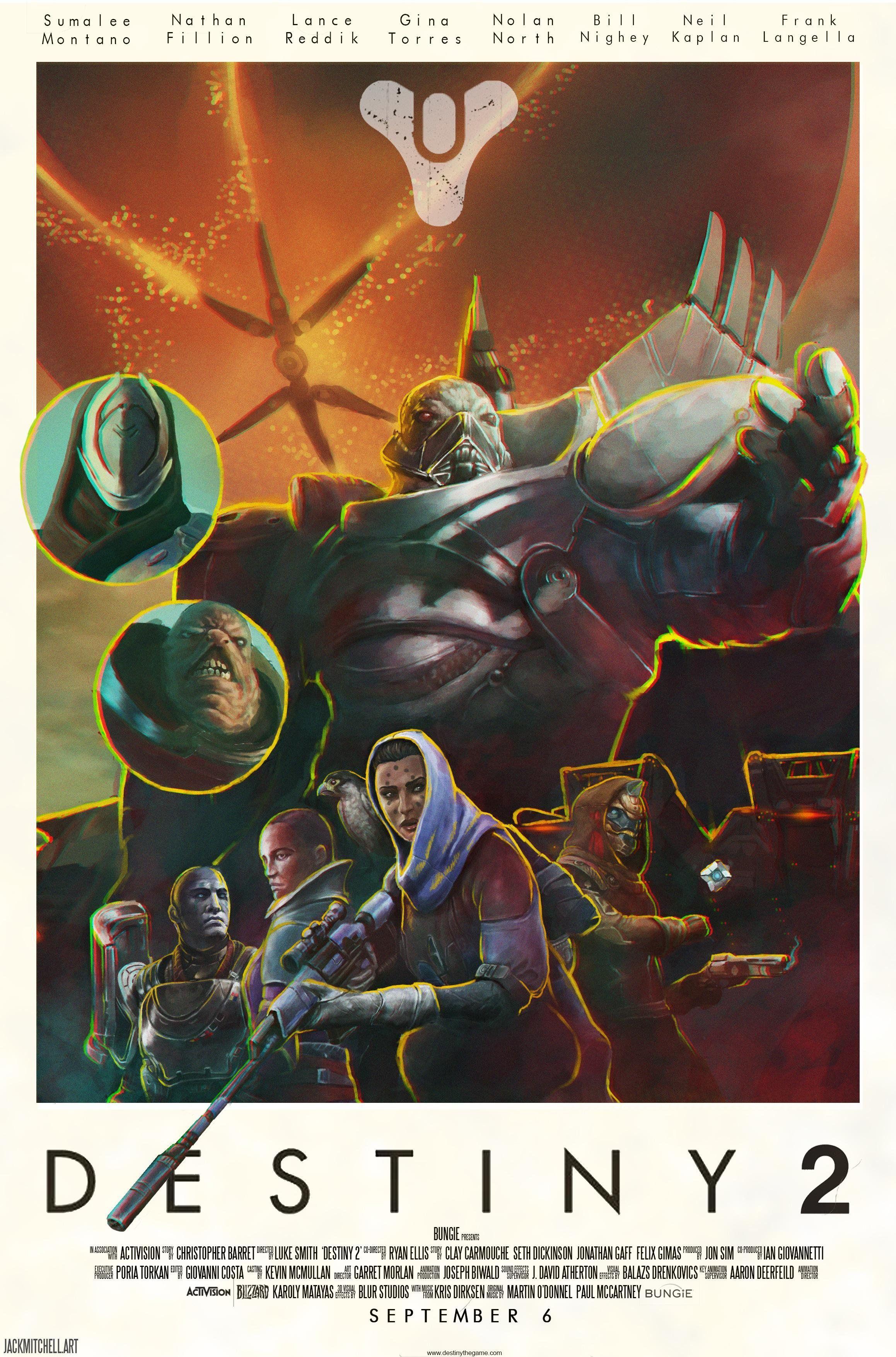 destiny game fan poster