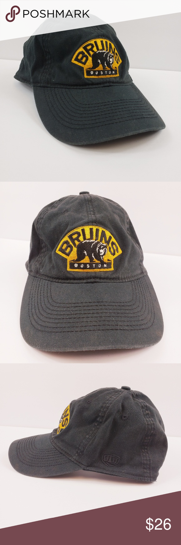 c704ff07416 NHL Boston Bruins Hockey Stanley Cup Fitted Hat Black fitted Boston Bruins  hat. Stanley cup patch on back. First photo shows colors correctly.