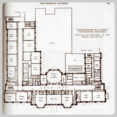 University Elementary School Building School Building School Building Plans School Floor Plan