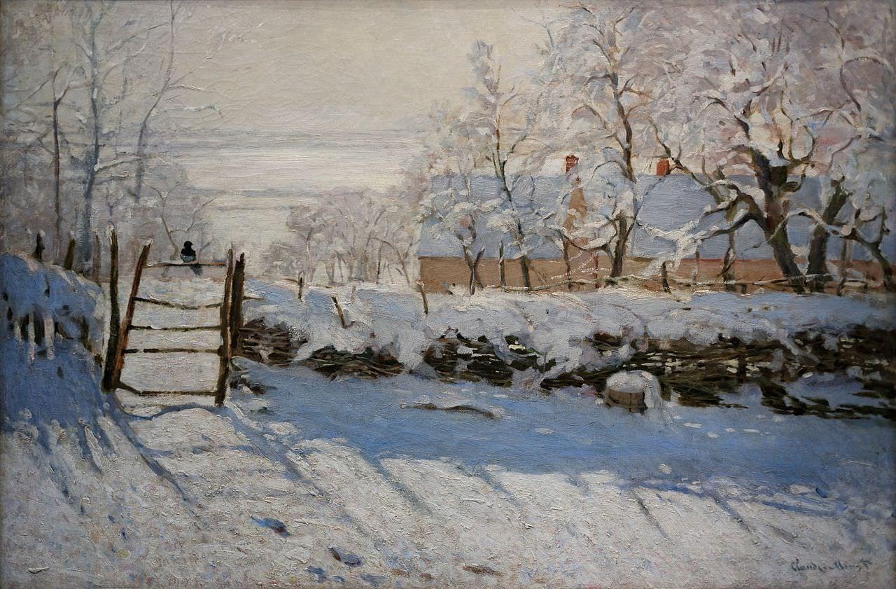 The Magpie, Claude Monet, 1868-9