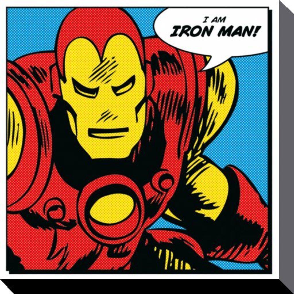 Iron Man - Marvel Comics - I Am - Brand New Official Canvas Print ...