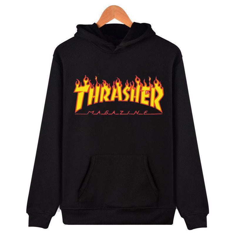 Hip-hop Men Women Hoodie Sweater Skateboard Thrasher Sweatshirts Pullover Coat